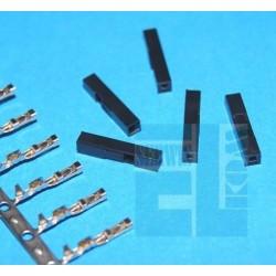 GNIAZDO BLS1 + PINY 1x1 PROSTE 2,54mm + 1x PIN BLT