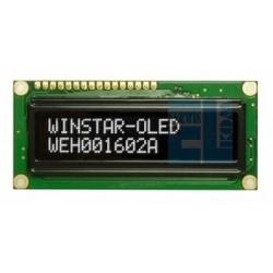 WYŚWIETLACZ LCD OLED 2x16 WEH1602 AWPP5 NEGATYW BIAŁY 16x2 + SPI