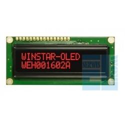 WYŚWIETLACZ LCD OLED 2x16 WEH1602 ARPP5 NEGATYW CZERWONY RED 16x2 + SPI