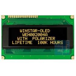 WYŚWIETLACZ LCD OLED 4x20 WEH2004 ALPP5N NEGATYW ŻÓŁTY 20x4 + SPI