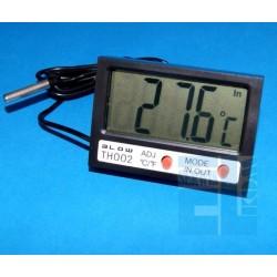 TERMOMETR PANELOWY MIERNIK LCD Z ZEGARKIEM -50 C do 70 C LCD CZARNY BLOW TH002 ZEW/WEW