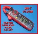 MIERNIK CĘGOWY Z MULTIMETREM 200A AC/DC UT210E TrueRMS UNI-T