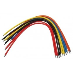 Zestaw 10szt Kabli-zworek 15cm połączeniowych Cynowane CZERWONE /066