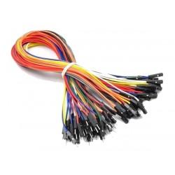 Zestaw 10szt Kabli-zworek 30cm połączeniowych WTYK-GNIAZDO KOLOROWE /093 ARDUINO