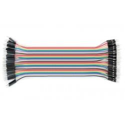 Zestaw 40szt Kabli-zworek 20cm połączeniowych WTYK-WTYK MĘSKIE /048 ARDUINO
