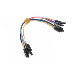 Zestaw 10szt Kabli-zworek 20cm połączeniowych GNIAZDO-GNIAZDO ŻEŃSKIE KOLOROWE /099 ARDUINO