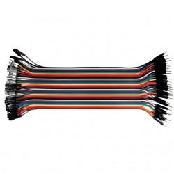 40szt Kabli-zworek 30cm połączeniowych WTYK-GNIAZDO ARDUINO