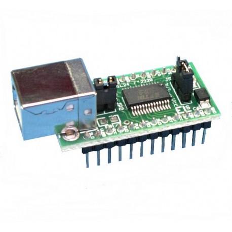 INTERFEJS KONWERTER USB-RS232 (TTL) / DIL24 - PROGRAMOWANIE KOMUNIKACJA przez USB - MODUŁ EM216