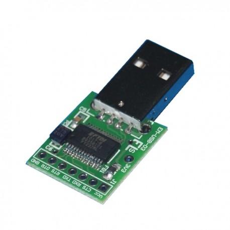 INTERFEJS KONWERTER USB-RS232 (TTL) MINI - PROGRAMOWANIE KOMUNIKACJA przez USB - MODUŁ EM218