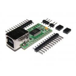 MODUŁ ZESTAW EM216 PCB + ZŁĄCZA INTERFEJS KONWERTER USB-RS232 (TTL) / DIL24