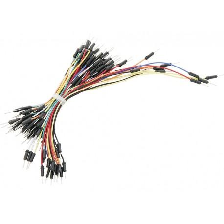 Zestaw 65 szt Kabli-zworek połączeniowych do płytek stykowych