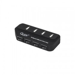 HUB USB 2.0 4-PORT Z WYŁ. QUER CZARNY H309 /753
