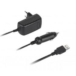 ŁADOWARKA AKUMULATORÓW 4x AA AAA PFC001 VIPOW 230V, 12V, PORT USB 5V