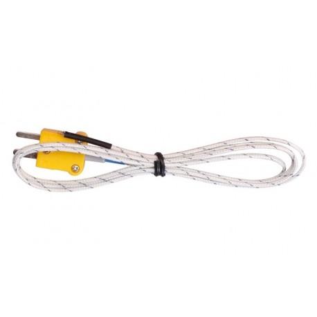 Czujnik Sonda temperatury termopara typ K TP01 WTYK NOŻOWY 2-Pin PRZEWÓD