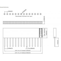 PINY GNIAZDO GOLDPIN 1x40 PIN PROSTE 2,54mm