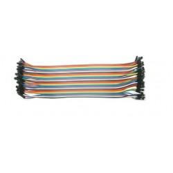 Zestaw 40szt Kabli-zworek 30cm połączeniowych gniazdo-gniazdo Żeńskie Arduino