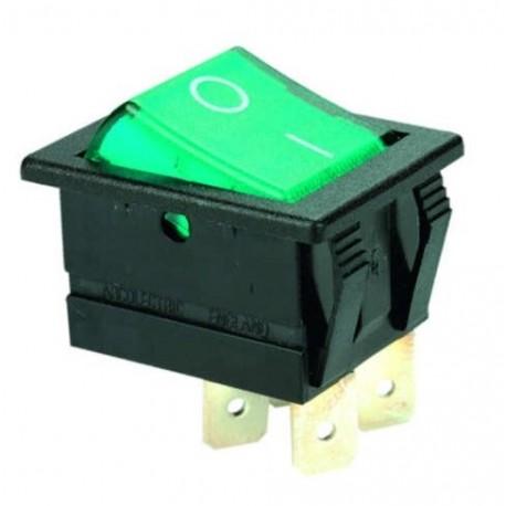 Przełącznik klawiszowy C1553 ALBG3 ON-OFF 16A/250V PODŚW. NEONÓWKA
