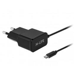 ŁADOWARKA SIECIOWA MICRO USB 1000mA M-LIFE ML0902