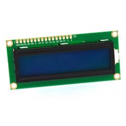 WYŚWIETLACZ LCD 2x16 1602 NIEBIESKI NEGATYW BLUE PODŚWIETLENIE BIAŁE LED