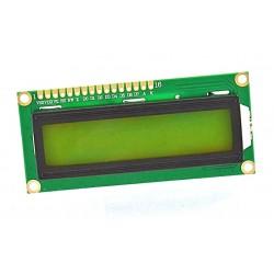 WYŚWIETLACZ LCD 2x16 1602 ZIELONY PODŚWIETLENIE Y/G LED