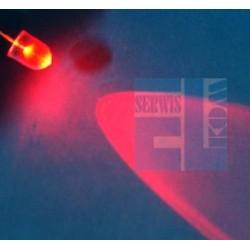 DIODA LED 10mm 12V CZERWONA GŁADKA