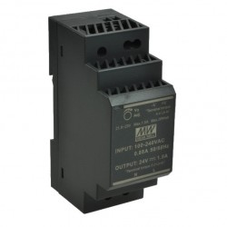 ZASILACZ HDR-30-24 24V DC 1,5A 36W SZYNA DIN IMP. Mean Well CZARNY