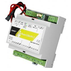 BasicGSM-PS-D4M 2 DIN MODUŁ POWIADOMIENIA I STEROWANIA GSM 17VAC/24VDC ZASILACZ BUFOROWY 12V/2A
