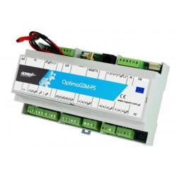 OptmaGSM-PS-D9M CENTRALA ALARMOWA Z GSM 12VDC NA SZYNĘ DIN Z AUTOMATYKĄ BUDYNKOWĄ