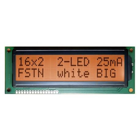 WYŚWIETLACZ LCD 2x16 1602B FHA K/A AMBER BIG DUŻE ZNAKI 16x2 CYRYLICA