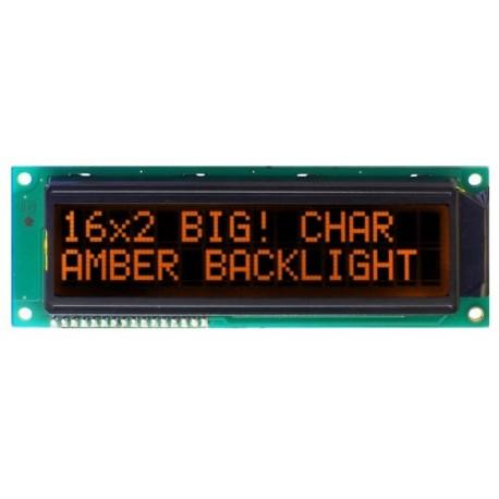 WYŚWIETLACZ LCD 2x16 1602C DLA A/KK AMBER BIG DUŻE ZNAKI 16x2 CYRYLICA