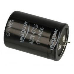 KONDENSATOR 470uF 400V 35x50mm Leaguer SNAP-IN