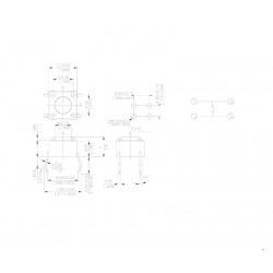 MIKROPRZYCISK 6x6mm h-15mm przycisk 11,5mm 4-P