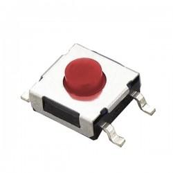 MIKROPRZYCISK TACT SWITCH SMD 6x6x h-3,4mm CZERWONY 09549