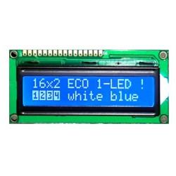 WYŚWIETLACZ LCD 1602A BIW W/B 1LED E6 CYRYLICA NIEBIESKI
