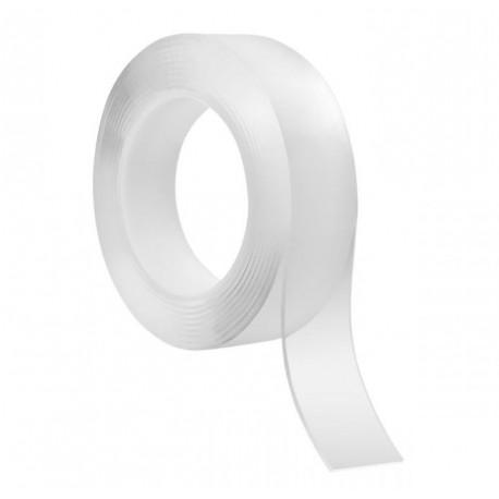 Dwustronna taśma montażowa NANO wielokrotnego użytku REBEL (2 mm x 3 cm x 3 m) transparentna