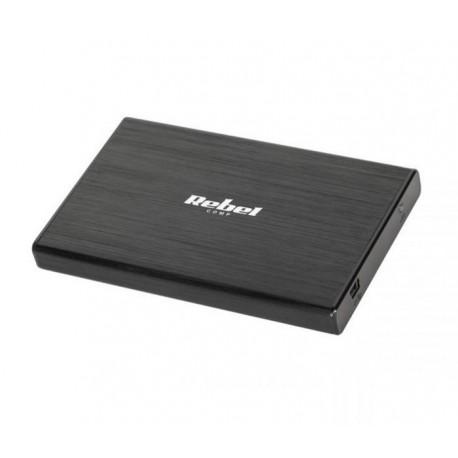 """OBUDOWA DYSKU 2,5"""" SATA USB 2.0 REBEL ALUMINIOWA KOM0691"""