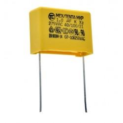 KONDENSATOR 1uF 275VAC MKP X2 22,5mm 10% POLIPROPYLENOWY