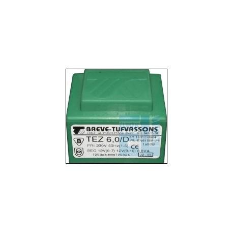 TRANSFORMATOR SIECIOWY TEZ 6,0/D 230V 12V-12V