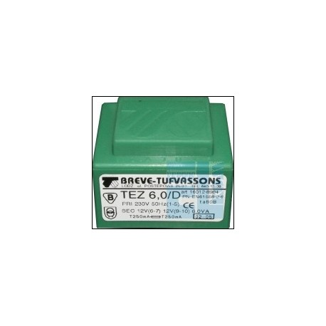 TRANSFORMATOR SIECIOWY TEZ 6.0/D 230V 12V 6W