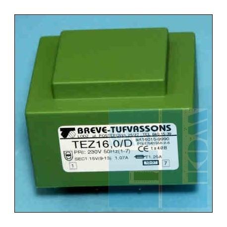 TRANSFORMATOR SIECIOWY TEZ 16D 230V 15V