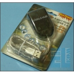 ROZSZERZENIE PORTU USB - HUB USB 2.0 - 4 PORTY, BUS POWER
