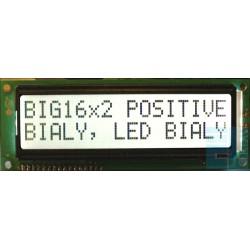 WYŚWIETLACZ LCD 2x16 C K/W BIG DUŻE ZNAKI 16x2 !!!