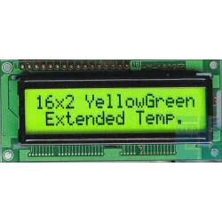 WYŚWIETLACZ LCD 2x16 E Y/G 16x2
