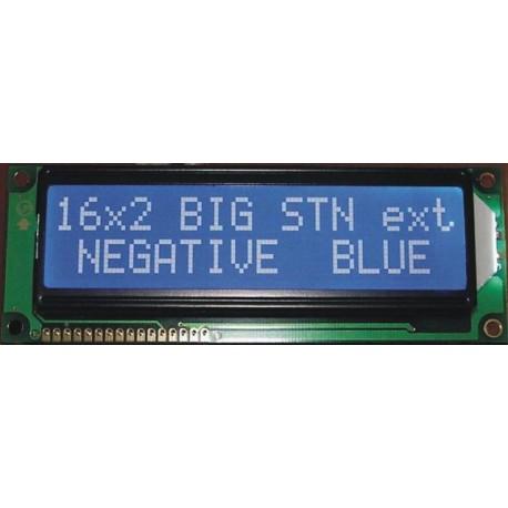 WYŚWIETLACZ LCD 2x16 C W/B BIG DUŻE ZNAKI 16x2 !!!