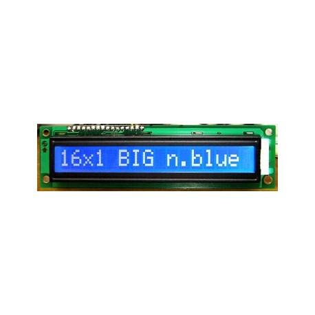 WYŚWIETLACZ LCD 1x16 B W/B DUŻE ZNAKI BIG !!! 16x1
