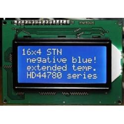 WYŚWIETLACZ LCD 4x16 A W/B 16x4 CYRYLICA NEGATYW NIEBIESKI
