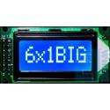 WYŚWIETLACZ LCD 1x6 B W/B BIG 6x1 CYRYLICA