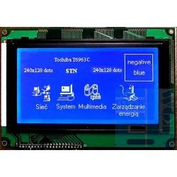 WYŚWIETLACZ GRAFICZNY LCD 240x128 W/B - T6963C GENERATOR ZNAKÓW