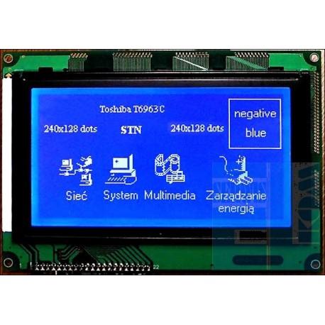WYŚWIETLACZ GRAFICZNY LCD 240x128S W/B - T6963C GENERATOR ZNAKÓW - Sklep  ELKOM-SERWIS