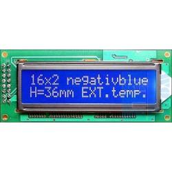 WYŚWIETLACZ LCD 2x16 H W1B B/W CYRYLICA 16x2